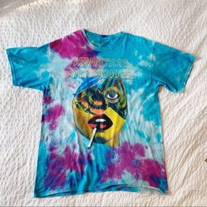 Pink Dolphin Vibratione and Waves Tie Dyed T-Shirt